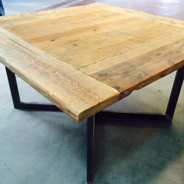 tavolino recupero Larice naturale