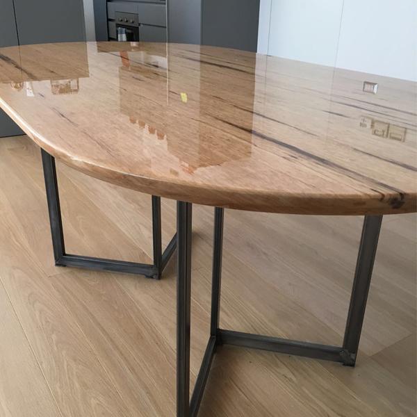 tavolo ovale_vetrificato