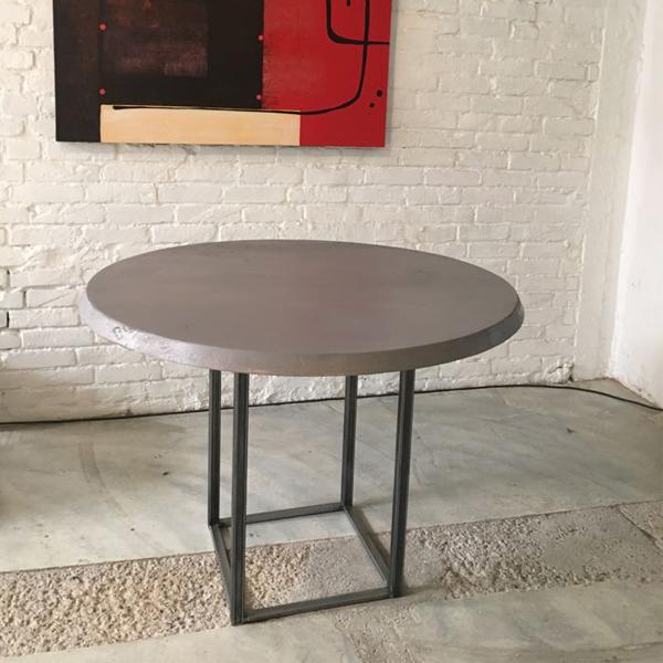 tavolo tondo gamba ferro