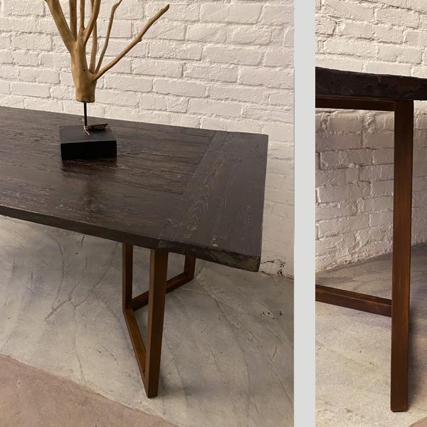 tavolo larice scuro_gamba ruggine2