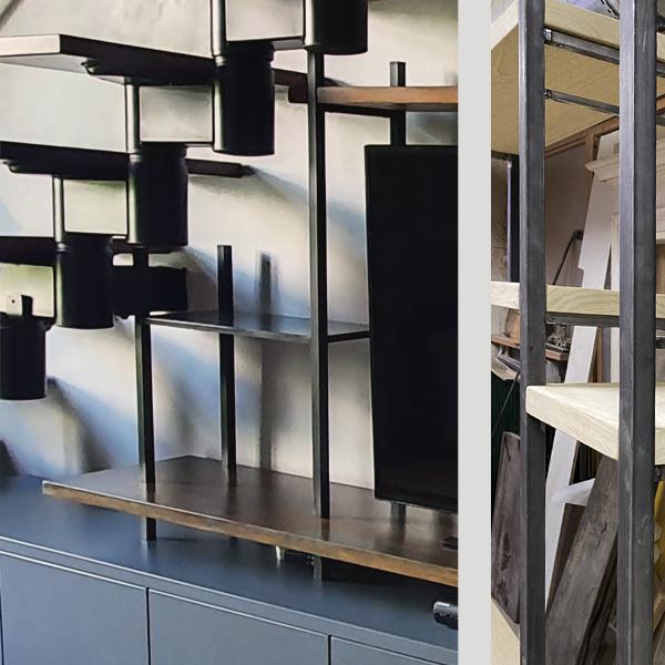 libreria porta tv- laccata_ferro_legno 2
